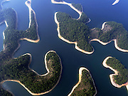 HANGZHOU, March 15, 2016 (Xinhua) -- <br /> <br /> aerial view of the Qiandao Lake, or Thousand-Island Lake, in Chun'an County of Hangzhou, east China's Zhejiang Province. With 1,078 islands scattered across the lake, Qiandao Lake is a famous spot for sightseeing in China.<br /> &copy;Exclusivepix Media