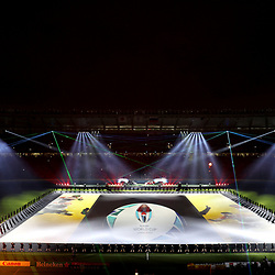 CHOFU, JAPAN - SEPTEMBER 20: In this handout image provided by World Rugby, a general view of the Opening Ceremony is seen prior to the Rugby World Cup 2019 Group A game between Japan and Russia at the Tokyo Stadium on September 20, 2019 in Chofu, Tokyo, Japan. (Photo by World Rugby - Handout/World Rugby via Getty Images)