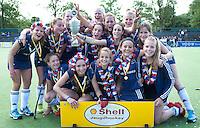 AMSTELVEEN - 16/05 - Feest bij Pinoke meisjes B na behalen kampioenschap,  finale NK meisjes B tussen Pinoke en Rotterdam. FOTO KOEN SUYK