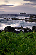 Alau Island, view from Hana, Maui, Hawaii