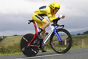 Geraint Thomas (GBR - Team Sky) during the 105th Edition of Tour de France 2018, cycling race stage 20, time trial, Saint Pee sur Nivelle - Espelette (31 km) on July 28, 2018 in Espelette, France - Photo Luca Bettini / BettiniPhoto / ProSportsImages / DPPI