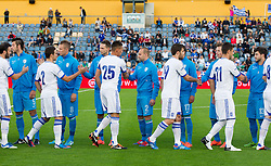 Players  during friendly football match between national teams of Slovenia and Greece, on May 26, 2012 in Kufstein, Austria.   (Photo by Vid Ponikvar / Sportida.com)