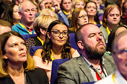 Pictured: <br /> The members of the SNP gathered in the Scottish Events Centre in Glasgow for their annual conference.<br /> <br /> Ger Harley | EEm 10 October 2017