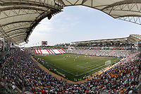 20 May 2007: Horizontal wide overview of the inside of soccer stadium during a 1-1 tie for MLS Chivas USA vs. Los Angeles Galaxy pro soccer teams at the Home Depot Center in Carson, CA.