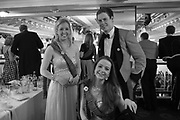 OLIVIA L'ESTRANGE; ROSANNA L'ESTRANGE; LT. ED MILLS, The Royal Caledonian Ball 2017, Grosvenor House, 29 April 2017