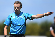 Match referee Ben O'Connell in the Handa Premiership football match, Hawke's Bay v Wellington, Bluewater Stadium, Napier, Sunday, February 03, 2019. Copyright photo: Kerry Marshall / www.photosport.nz