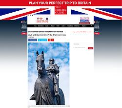 Britain Magazine; Bannockburn monument