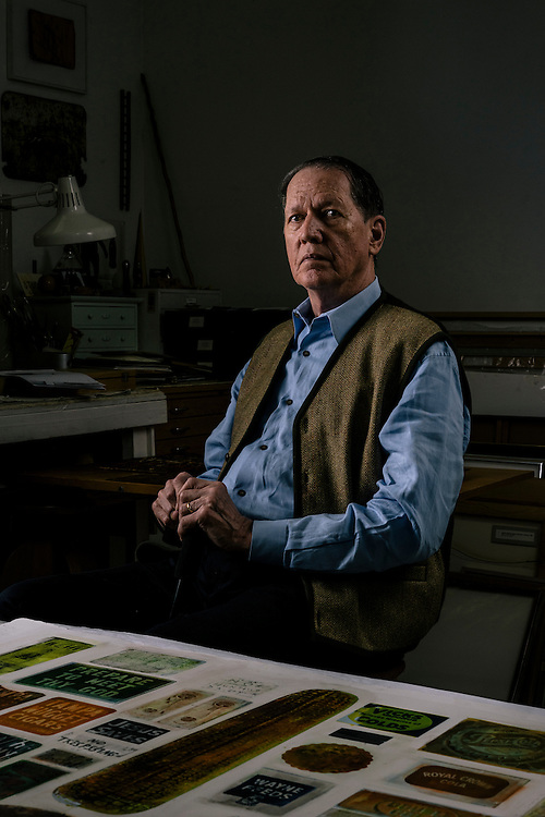 WASHINGTON, DC - MAY 12 William Christenberry at his home studio in NW Washington DC on May 12, 2015. (Photo by Greg Kahn/GRAIN for The Washington Post)
