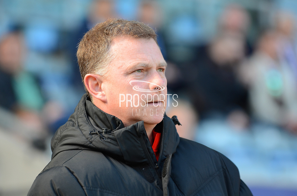 Coventry City manager Mark Robbins during the EFL Sky Bet League 1 match between Coventry City and Bristol Rovers at the Ricoh Arena, Coventry, England on 25 March 2017. Photo by Alan Franklin.