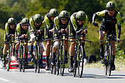 Mitchelton - Scott during the Tour de France 2018, Stage 3, Team Time Trial, Cholet-Cholet (35 km) on July 9th, 2018 - Photo Luca Bettini/ BettiniPhoto / ProSportsImages / DPPI