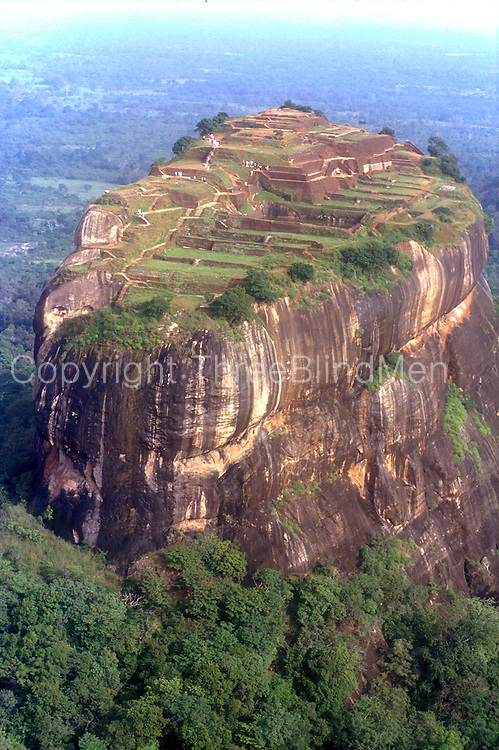 Sigiriya rock..A view of the top from the south-east end..