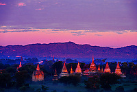 Sunrise on the temples of Bagan (Pagan), Burma (Myanmar)