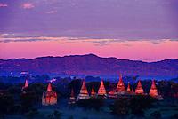 Sunrise on the temples of Bagan (Pagan), Burma (Myanmar)