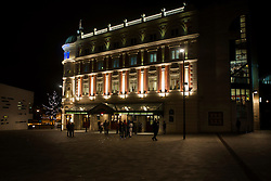 Lyceum Theater light up for the evening viewed from Norfolk Street in Sheffield..8 November 2012.Image © Paul David Drabble