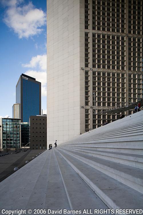 Steps of La Grande Arche, La Defense, Paris, France