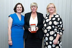 Pictured is, from left, Lincolnshire Co-operative chief executive Ursula Lidbetter, Sylvia Jackson, Lincolnshire Co-operative president Amy Morley<br /> <br /> Lincolnshire Co-operative long service awards 2015, held at The Showroom, Tritton Road, Lincoln.<br /> <br /> Date: September 23, 2015<br /> Picture: Chris Vaughan/Chris Vaughan Photography