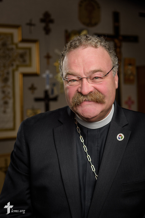Portrait of the Rev. Dr. Matthew C. Harrison, president of The Lutheran Church–Missouri Synod, at the International Center on Monday, March 28, 2016, in Kirkwood, Mo. LCMS Communications/Erik M. Lunsford