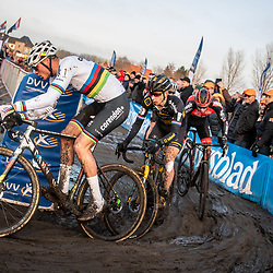 2019-12-27 Cycling: dvv verzekeringen trofee: Loenhout: Mathieu van der Poel and Lars van der Haar on the chase