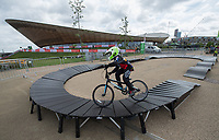 Festival zone at Lea Valley during the Grand Prix series of races at Prudential RideLondon 28/07/2017<br /> <br /> Photo: Bob Martin/Silverhub for Prudential RideLondon<br /> <br /> Prudential RideLondon is the world's greatest festival of cycling, involving 100,000+ cyclists – from Olympic champions to a free family fun ride - riding in events over closed roads in London and Surrey over the weekend of 28th to 30th July 2017. <br /> <br /> See www.PrudentialRideLondon.co.uk for more.<br /> <br /> For further information: media@londonmarathonevents.co.uk