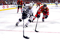 28 May 2014 Los Angeles Kings Right Wing Marian Gaborik 12 Battles with Chicago Blackhawks defenseman Duncan Keith 2 in Action during Game 5 of The Stanley Cup Playoffs Western Conference Final between The Los Angeles Kings and The Chicago Blackhawks AT The United Center in Chicago Il NHL Ice hockey men USA May 28 Stanley Cup Playoffs Western Conference Final Kings AT Blackhawks Game 5 <br />