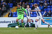 Forest Green Rovers Darren Carter(12) runs forward during the FA Trophy 2nd round match between Chester FC and Forest Green Rovers at the Deva Stadium, Chester, United Kingdom on 14 January 2017. Photo by Shane Healey.