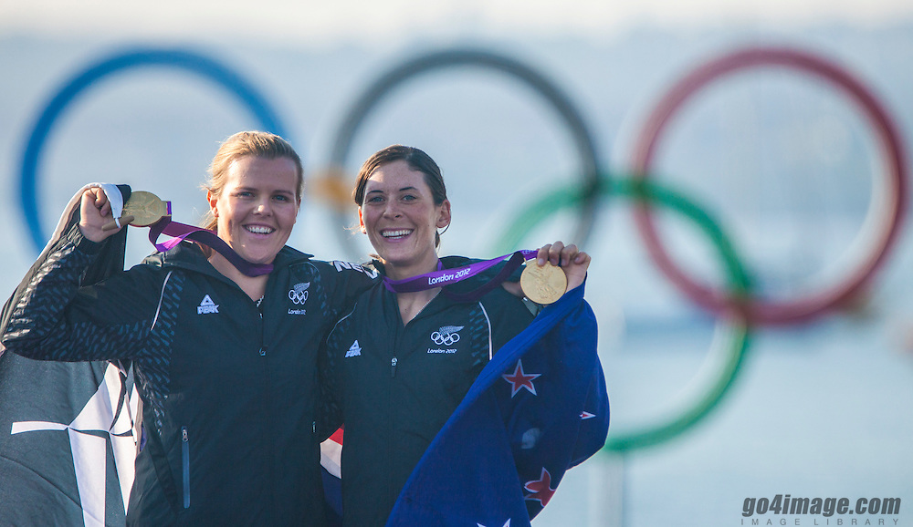 GOLD:<br /> Aleh Jo, Powrie Olivia, (NZL, 470 Women)<br /> 2012 Olympic Games <br /> London / Weymouth<br /> <br /> 2012 Olympic Games <br /> London / Weymouth