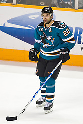 January 6, 2010; San Jose, CA, USA; San Jose Sharks defenseman Dan Boyle (22) during the second period against the St. Louis Blues at HP Pavilion. San Jose defeated St. Louis 2-1 in overtime. Mandatory Credit: Jason O. Watson / US PRESSWIRE