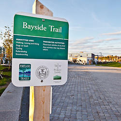 The Bayside Trail in Portland, Maine. This is a former rail line converted to a multi-use trail.