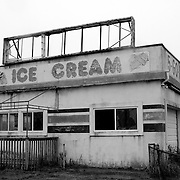 Abandoned ice cream shop on the outskirts of Wilwood, New Jersey, USA