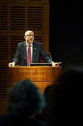 Pictured: Sir John Leighton<br /> <br /> Sir John Leighton, director-general of National Galleries of Scotland; Patricia Allerston, deputy director Scottish National Gallery; and Ben Thomson, chairman of the trustees at National Galleries of Scotland were in attendance as a briefing was given on the redevelopment of the  Scottish National Gallery in Edinburgh. <br /> <br /> Ger Harley | EEm 10 November 2016