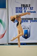Alexia Gorina from Aurora Fano team during the Italian Rhythmic Gymnastics Championship in Padova, 25 November 2017.