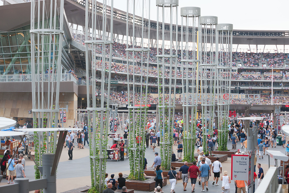 Game day at Target Field in Minneapolis, Minnesota, home of the Minnesota Twins professional baseball team.