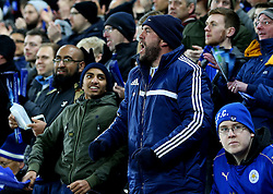 Leicester City fans celebrate at full time - Mandatory by-line: Matt McNulty/JMP - 22/11/2016 - FOOTBALL - King Power Stadium - Leicester, England - Leicester City v Club Brugge - UEFA Champions League