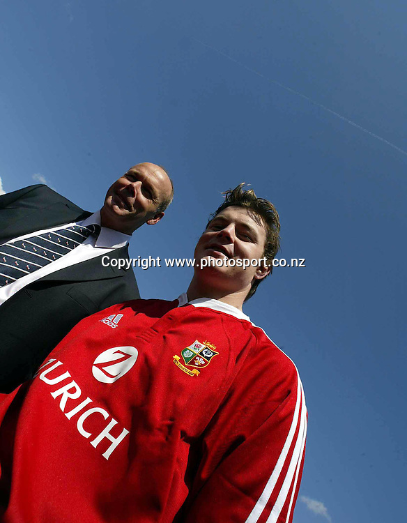 British and Irish Lions Rugby Press conference to announce the squad for the forthcoming tour to New Zealand. Hilton Hotel Heathrow airport London 11/4/2005<br />
