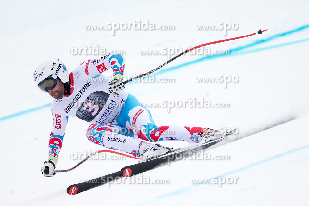 27.02.2015, Kandahar, Garmisch Partenkirchen, GER, FIS Weltcup Ski Alpin, Abfahrt, Herren, 2. Training, im Bild Brice Roger (FRA) // Brice Roger of France in action during the 2nd trainings run for the men's Downhill of the FIS Ski Alpine World Cup at the Kandahar course, Garmisch Partenkirchen, Germany on 2015/27/02. EXPA Pictures © 2015, PhotoCredit: EXPA/ Johann Groder