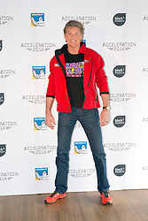 US actor David Hasselhoff poses for the photographers during the presentation of a Motor Racing Festival in Madrid, Spain, Tuesday, 25th March 2014. Picture by Oscar Gonzalez / i-Images<br /> SPAIN OUT