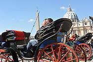 Rome (Italia), 10/03/2011: Botticelle, piazza San Pietro<br /> &copy;Andrea Sabbadini
