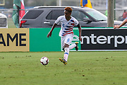 Team USA midfielder Aethan Yohannes (6) dribbles the ball up the pitch during a CONCACAF boys under-15 championship soccer game, Monday, Aug. 5, 2019, in Bradenton, Fla. The USA defeated Guatemala  2-0 (Kim Hukari/Image of Sport)