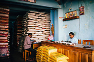 A wholesale grain shop at the central market in Jaffna, Sri Lanka, Asia