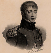 Louis Bonaparte (1778-1846) French soldier. King of Holland under the name of Lodewijk I (1806-1810). Brother of Napoleon Bonaparte whose stepdaughter Hortense Beauharnais he married.  Father of  Napoleon III.  Lithograph c1830.