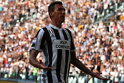 August 19, 2017 - Turin, Italy - Mandzukic celebrates after scoring his goal during the Serie A football match n.1 JUVENTUS - CAGLIARI on 19/08/2017 at the Allianz Stadium in Turin, Italy. (Credit Image: © Matteo Bottanelli/NurPhoto via ZUMA Press)
