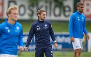 Assistenttræner Anders Clausen (FC Roskilde) under opvarmningen til kampen i NordicBet Ligaen mellem FC Roskilde og Vendsyssel FF den 18. august 2019 i Roskilde Idrætspark (Foto: Claus Birch).