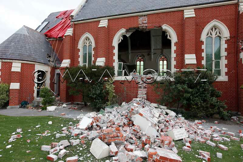 Earthquake damage to Our Lady Star Of The Sea Catholic Church in the suburb of Sumner, Christchurch