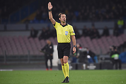 March 7, 2019 - Naples, Naples, Italy - Aleksei Kulbakov referee during the UEFA Europa League match between SSC Napoli and RB Salzburg at Stadio San Paolo Naples Italy on 7 March 2019. (Credit Image: © Franco Romano/NurPhoto via ZUMA Press)