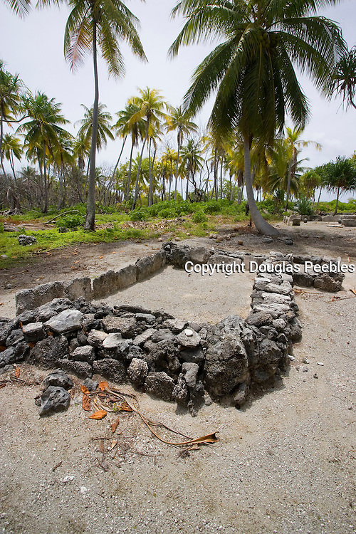 Marae, Fakarava, Tuamotu Islands, French Polynesia<br />