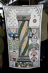 A copy of the Rosslyn panel that was stolen from the Great Tapestry of Scotland has been presented to the trustees after the original stitching team recreated their original.<br /> <br /> &copy; Dave Johnston/ EEm