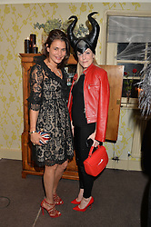 Left to right, AVERYL OATES and OLIVIA McCALL at the Bumpkin Halloween Dinner hosted by Marissa Hermer held at Bumpkin, 119 Sydney Street, London on 23rd October 2014.