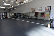 San Diego, California. USA. Exercise room,  Boathouse, Lower Otay Reservoir,  rowing training course, Olympic Committee's ARCO Training Center in Chula Vista California.   10:20:34   Thursday  11/04/2013  [Mandatory Credit. Peter Spurrier/Intersport Images] ..