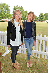 Left to right, KATE AUSTIN and TESS WARD at the Flannels For Heroes cricket competition in association with Dockers held at Burton Court, Chelsea, London on 19th June 2015
