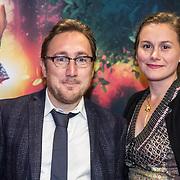 NLD/Amsterdam/20161024 - Premiere Hartenstrijd, Albert Jan van Rees en partner